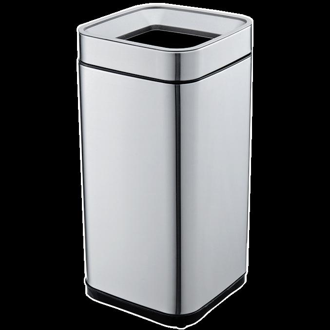 Ведро для мусора JAH 20 л серебряный металлик без крышки с внутренним ведром