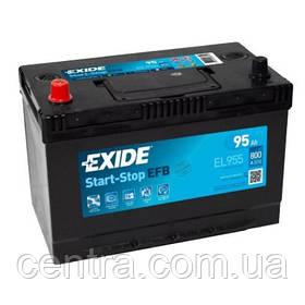 Автомобильный аккумулятор EXIDE EFB EL955 95Ah L+ Asia