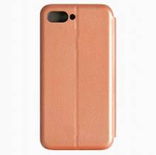 Чехол-книжка Premium Case Ulefone S1,S1 Pro под кожу розовое золото