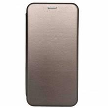 Чехол-книжка Premium Case Ulefone S1,S1 Pro под кожу серый