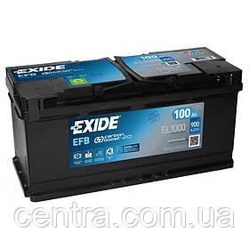 Автомобильный аккумулятор EXIDE EFB EL1000 100Ah R+