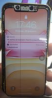 Дисплей (экран) для iPhone 11 + тачскрин, цвет черный (оригинал, снят с телефона, имеет дефект, черная полоса)