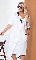 Платье с сумкой молодежное большого размера 881301-3 белый