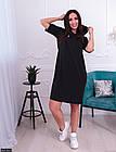 Платье молодежное большого размера 881304-1 черный, фото 2
