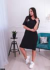 Платье молодежное большого размера 881304-1 черный, фото 3
