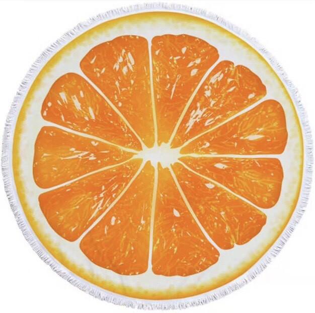 """Круглое покрывало для пляжа """"Апельсин"""""""