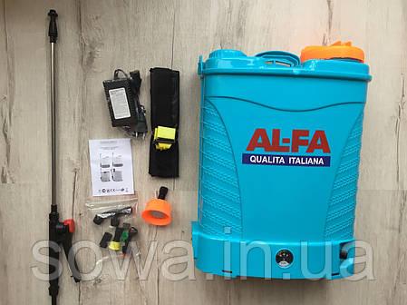✔️ Опрыскиватель аккумуляторный AL-FA  16L, фото 2