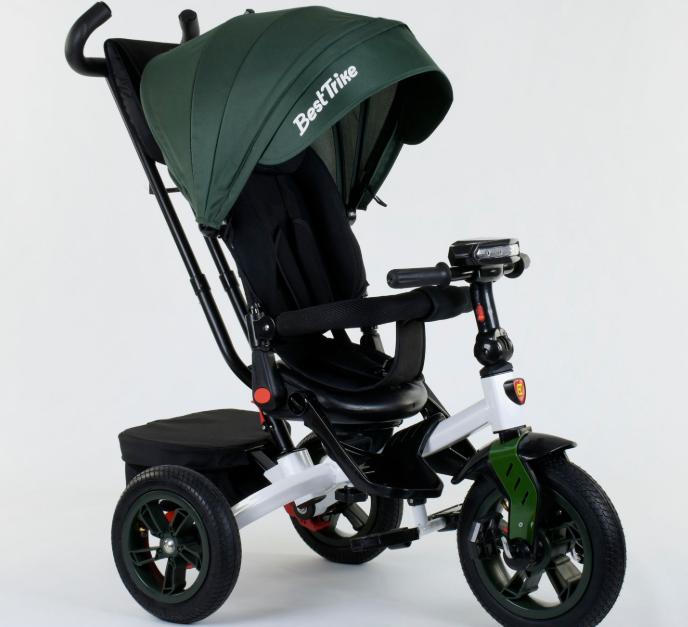 Детский велосипед 3-х колёсный 9500 - 3046 Best Trike фиолетовый Зеленый