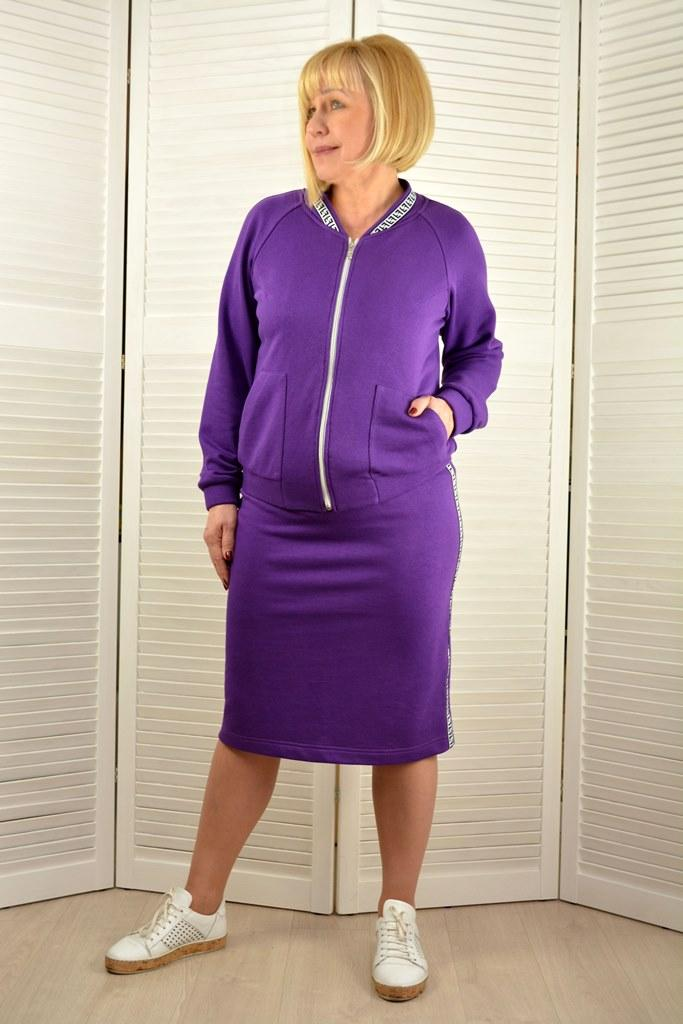 Комплект прогулочный: Бомбер и юбка - Модель 1825