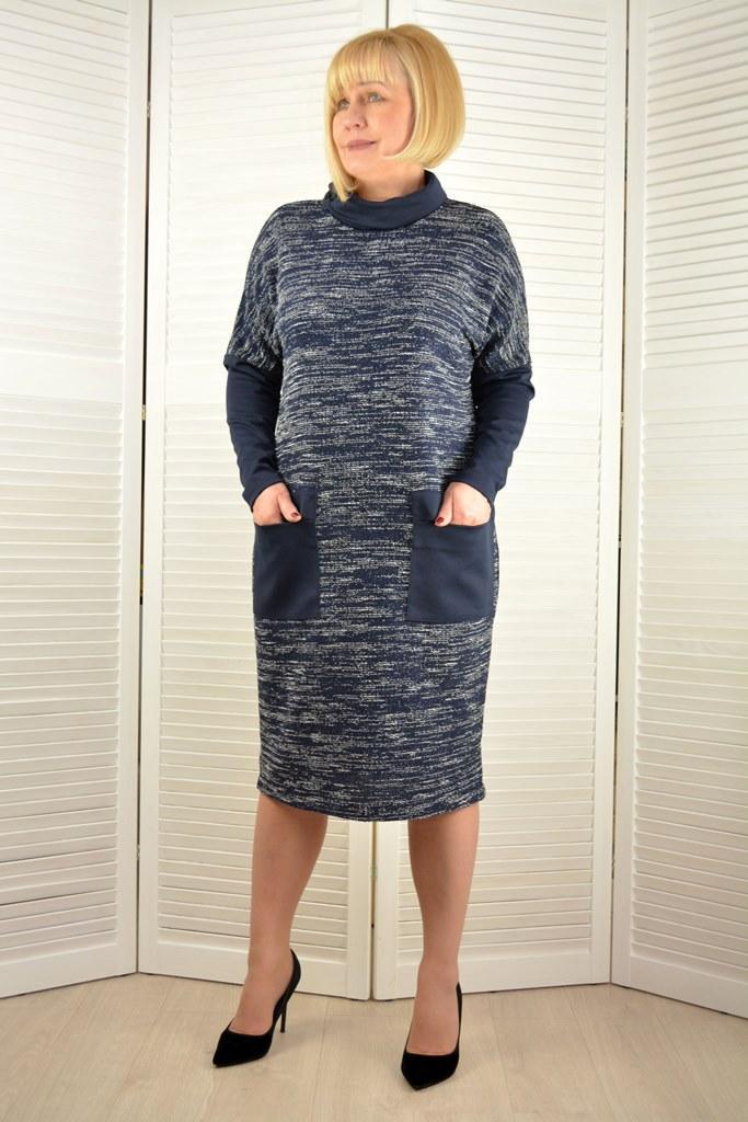 Платье темно-синее - Модель 1685-12