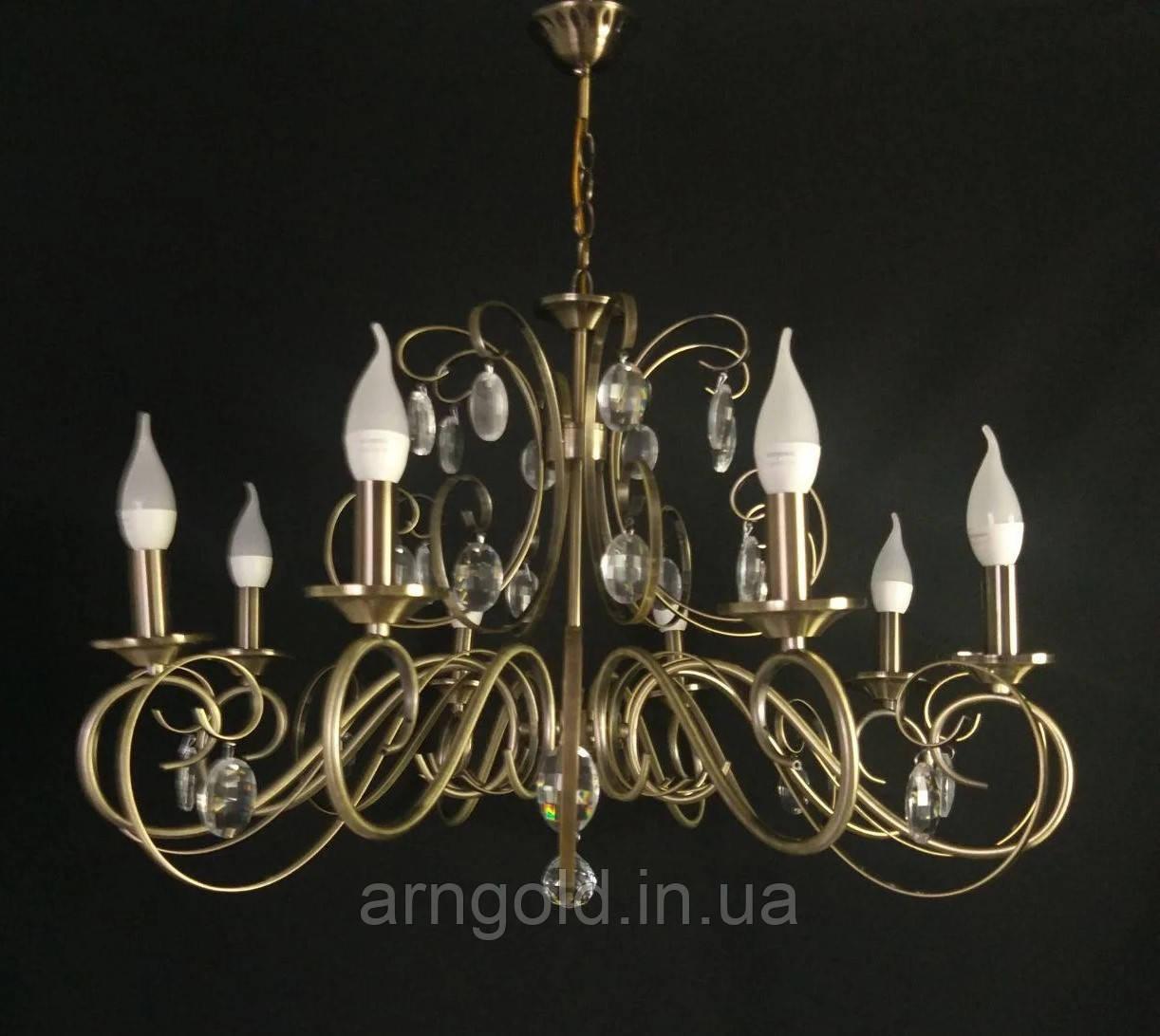 Люстра подвесная на 8 ламп 3-N3053/8 античное золото