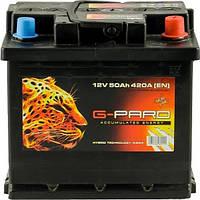 50 Аh/12V G-Pard Euro(0) Пусковий 420  (EN)  Габарити 207х175х190