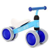 Беговел детский Profi Kids 7 дюймовый М 5462-3, 4 колеса EVA, 49*20*35см, синий