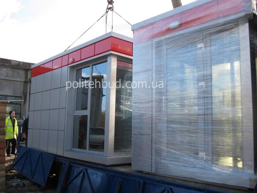 Ларьки с фасадом из алюминиевого композита