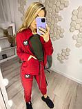 Женский спортивный костюм Цвет: чёрный, красный, молочный, фото 5