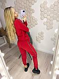 Женский спортивный костюм Цвет: чёрный, красный, молочный, фото 6