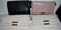 Женские прямоугольные клатчи-конверты с клапаном на несколько отделений внутри 25*16 см