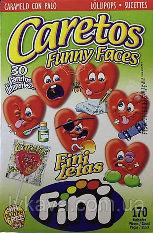 Леденцы Caretos Funny Faces красные   Fini , 7 гр, фото 2
