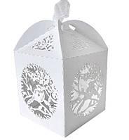 """Бонбоньерка (коробочка для конфет) """"Birds"""", материал картон, цвет - белый"""