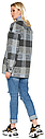 Женское демисезонное пальто NIO Collection Сабина Голубой, шерстяное пальто в клетку, фото 2
