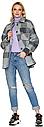 Женское демисезонное пальто NIO Collection Сабина Голубой, шерстяное пальто в клетку, фото 3