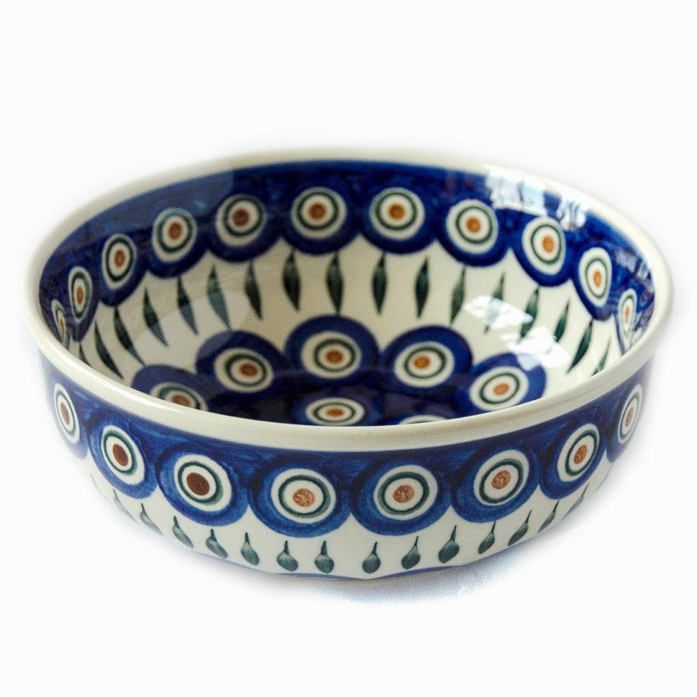 Керамическая пиала для супа, салатник 17 Перо Павлина