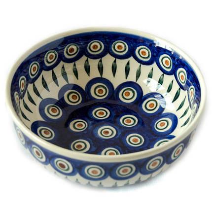 Керамическая пиала для супа, салатник 17 Перо Павлина, фото 2