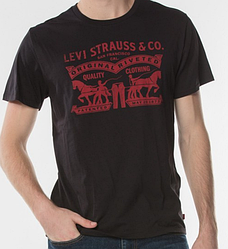 Мужская футболка Levis®  Classic Graphic Tee - Black Heritagtage Logo