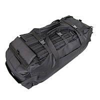 Сумка-рюкзак дорожная Natursport Transporter 80 литров Водоотталкивающая ткань 600Dх600D Черная