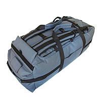 Сумка-рюкзак дорожная Natursport Transporter 80 литров Водоотталкивающая ткань 600Dх600D Серая