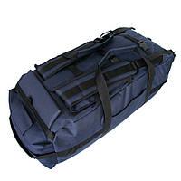 Сумка-рюкзак дорожная Natursport Transporter 80 литров Водоотталкивающая ткань 600Dх600D Темно-синяя