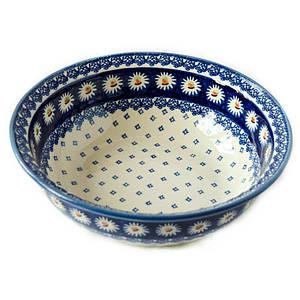 Миска с бортиком / салатник керамический 25 Маргаритки