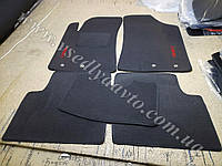 Ворсовые коврики в салон Geely Emgrand 7 (серые)