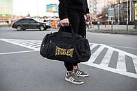 Спортивная черная мужская сумка Everlast yellow, фото 1