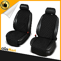 Накидки, чехлы на сидения автомобиля Алькантара стиль, Черные, Стандарт