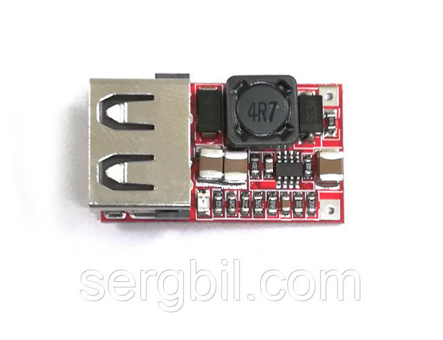 Понижающий DC-DC 12-24В --> 5В 2А USB преобразователь напряжения