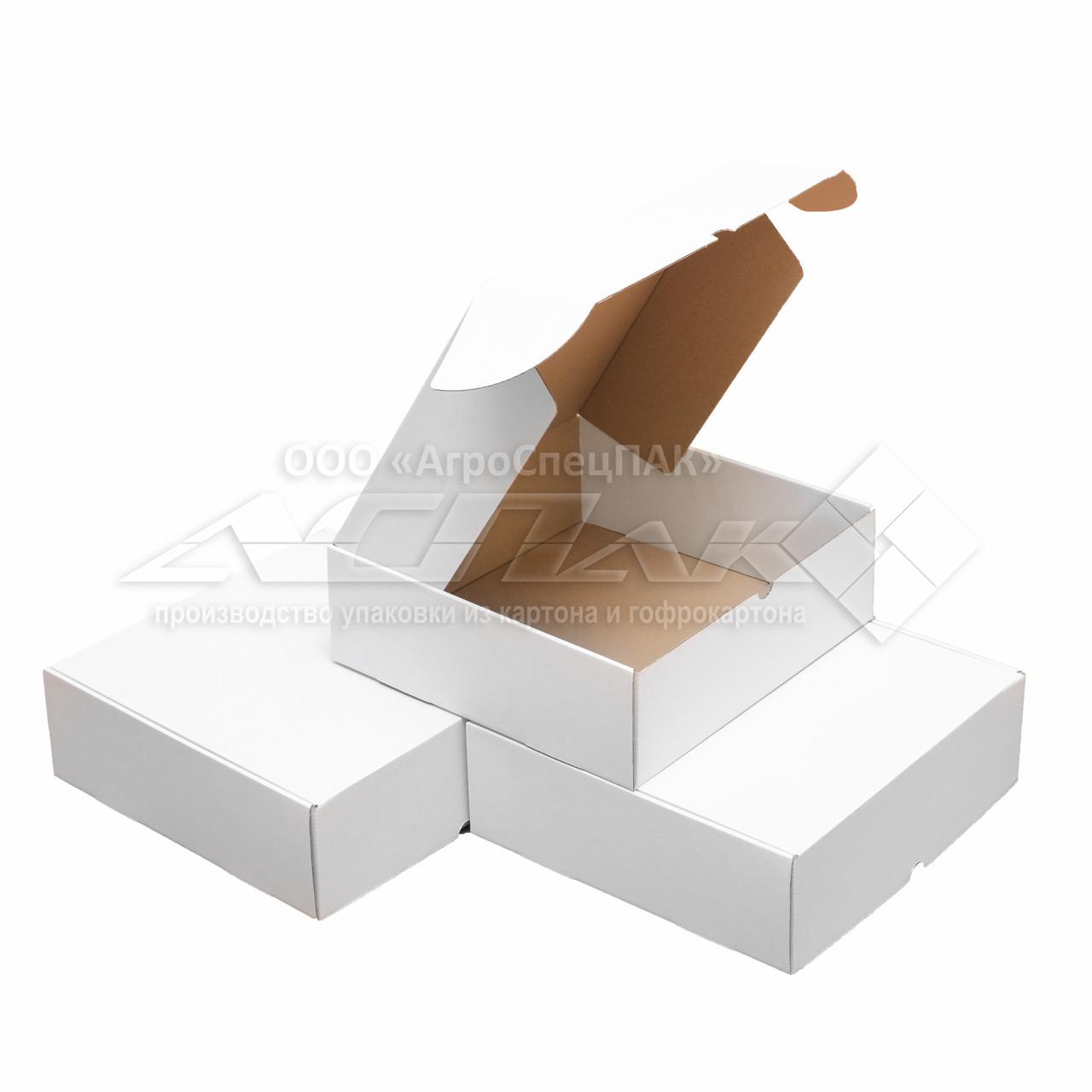 Картонные коробки 200х200х67 белые
