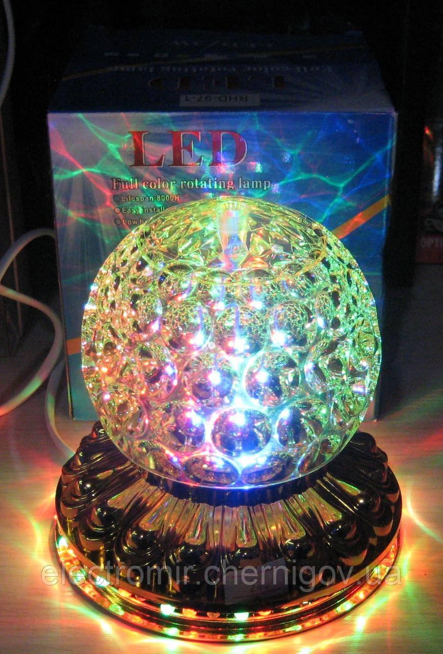 Светодиодная вращающаяся диско-лампа RHD-97-1