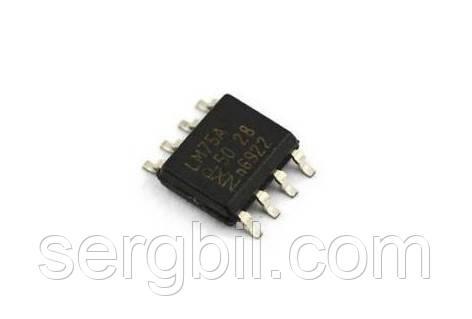 LM75A  датчик температуры цифровой -50...125С, I2C