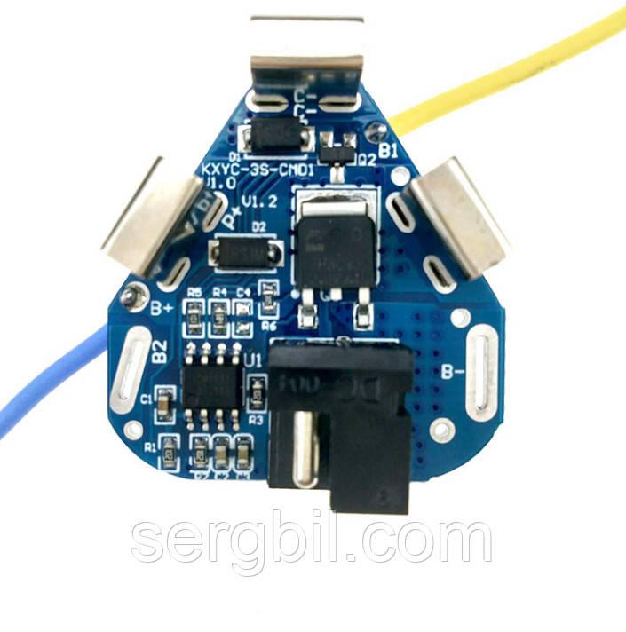 3s 3,7 V 40A BMS (11,1 V) плата захисту 3х3,7В Li-ion акумуляторів 12В для шуруповерта