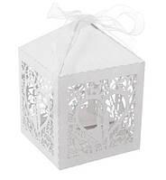 """Бонбоньерка (коробочка для конфет) """"In Love"""", материал картон, цвет - белый"""