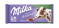 Шоколад молочный Milka Hazelnuts (с лесным орехом) Швейцария 100г, фото 1