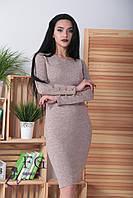 """Платье ангоровое  """"Перрис"""" с пуговицами на рукавах р. 42, 44, 46, 48, фото 1"""