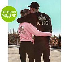 """Мужской трикотажный батник """"King""""  Распродажа модели серый р. 48-50, 50-52"""