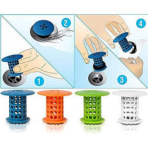 Пробка-затычка для ванны с фильтром от волос Tub Shroom, фото 2