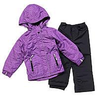 Демисезонный комплект для девочки, куртка на флисе, штаны на хлопковой подкладке, NANO