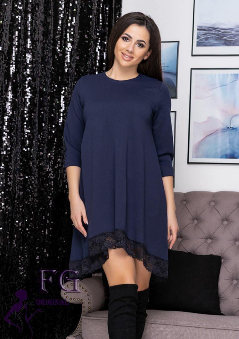 "Асимметричное платье большого размера  ""Emma""| Батал р. 50-52"