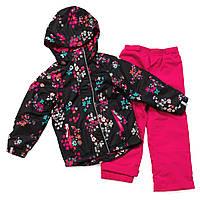 Демисезонный комплект для девочки, куртка на флисе и штаны, NANO
