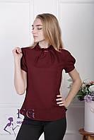 """Женская блузка """"Агата""""  Бордовый, фото 1"""