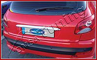 Peugeot 206 (2004-) Накладка над номером на багажник (Abs хром)